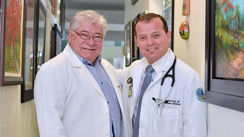 Padre e hijo comparten la pasión por la endocrinología